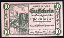 Austria Pöchlarn (Niederösterreich) 1920 / 10 Heller / Gutschein / Kirche / Notgeld, Banknote - Austria