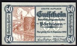 Austria Pöchlarn (Niederösterreich) 1920 / 60 Heller / Gutschein / Kirche / Notgeld, Banknote - Oesterreich