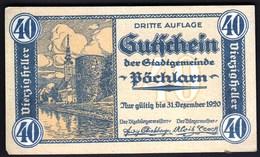 Austria Pöchlarn (Niederösterreich) 1920 / 40 Heller / Gutschein / Kirche / Notgeld, Banknote - Oesterreich