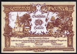 Austria Ockert 1920 / 50 Heller / Gutschein / Kirche / Notgeld, Banknote - Oesterreich