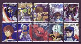 Japan 2005 - Animation Hero And Heroine Series 2 - Gundam - Issued 1 Million - Used Stamps