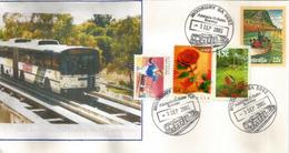 O-Bahn Busway (tramway Extension) Of Adelaide, South Australia, Australia Post . Modbury - Strassenbahnen