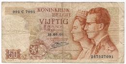 Belgium 50 Francs 1966 (4) P-139 /017B/ - [ 2] 1831-...: Belg. Königreich