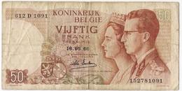 Belgium 50 Francs 1966 (5) P-139 /017B/ - [ 2] 1831-...: Belg. Königreich