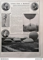 1908 L'AÉRO = CLUB À BORDEAUX- VICOMTE DE LIRAC - M. BAUDRY - HENRI DE LA VAULX - Libros, Revistas, Cómics