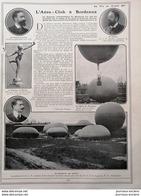 1908 L'AÉRO = CLUB À BORDEAUX- VICOMTE DE LIRAC - M. BAUDRY - HENRI DE LA VAULX - Books, Magazines, Comics