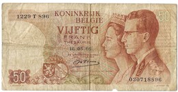 Belgium 50 Francs 1966 (6) P-139 /017B/ - [ 2] 1831-...: Belg. Königreich