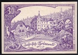 Austria Oberweissenbach Und Bernhardschlag 1920 / 30 Heller / Gutschein / Jagd Schloss Brunnwald / Notgeld, Banknote - Oesterreich