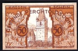 Austria Perchtoldsdorf 1920 / 50 Heller / Gutschein / Stadtturm / Notgeld, Banknote - Oesterreich