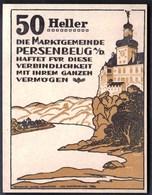 Austria Persenbeug An Der Donau 1920 / 50 Heller / Gutschein / Schloss / Notgeld, Banknote - Austria
