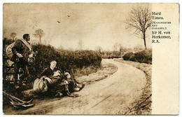 ARTIST : SIR H. VON HERKOMER - HARD TIMES (MANCHESTER ART GALLERY) - Paintings
