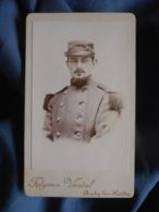 CDV Fulgence Vandal à Auchy Les Hesdin (pdc) - Portrait Militaire Soldat Du 73e D'infanterie Circa 1890 L455 - Photos