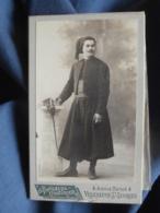 CDV Fontenelle Couturier à Villeneuve St Georges - Militaire Zouave En Pied Circa 1895 L455 - Photos
