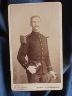 Photo CDV Voisin à Paris - Militaire Officier Sous Lieutenant Du 3e L455 - Photographs