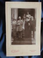Photo Format Cabinet  Vandier à Paris  Sortie D'église  Photo De Mariage Avec Des Généraux- L454 - Personnes Anonymes