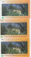 Cyprus, 22CYPB, 23CYPB And 24CYPB, £5, Churches, Ayia Paraskevi, 2 Scans - Cyprus