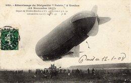 Atterrissage Du Dirigéable 'Patrie' A Verdun 1907   -  CPA - Zeppeline