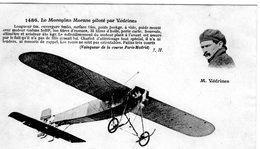 Le Monoplan Morane Piloté Par Védrines   -  CPA - Aviadores