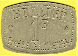 Nécessité - France - 1 Fr Bullier - PARIS - Monétaires / De Nécessité