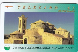 Cyprus, 22CYPA, £3 Panayia Angeloktisti, Kiti, 2 Scans - Cyprus