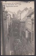 CPA -  Belgique, TIENEN / TIRLEMONT, L'Evacuation De La Belgique Par Les Allemands, Nov 1918, Carte Photo - Tienen