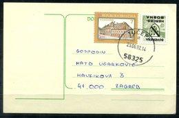 4887 - KROATIEN - Mi. 194 + 60er Überdruckmarke Herceg-Bosna Auf Postkarte - Kroatien