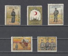 TURQUIE  YT  Bienfaisance  N° 6A/6F  (manque 6E)  Neuf *  1915  (Voir Détail) - Francobolli Di Beneficenza