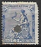 ESPAGNE    -    1873.    Y&T N° 136 Oblitéré  . - Oblitérés