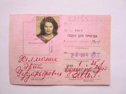 Railway / Train Monthly Ticket   Y 1969  USSR / LATVIA / Russia - Wochen- U. Monatsausweise