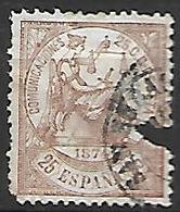 ESPAGNE    -    1874.    Y&T N° 145 Oblitéré  . - 1873-74 Regentschaft
