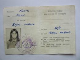 BUS Season Ticket   Y 1977 / 78 For Student   USSR / LATVIA / Russia - Wochen- U. Monatsausweise