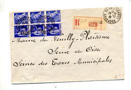 Lettre Recommandée La Delivrance Sur Mercure Semeuse - Marcophilie (Lettres)