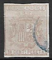 ESPAGNE    -    1874.    Y&T N° 151 A Oblitéré , Non Dentelé.   Armoiries - 1873-74 Regentschaft