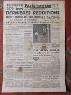 Journal Paris-Presse ( 8 Mai 1945) Dernières Redditions - Luftwaffe Capitule - Autres