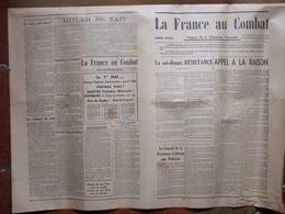 Journal La France Au Combat - Numéro Spécial - Organe De La Résistance Nationale - Andere