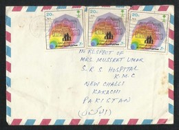 Saudi Arabia 1984 Air Mail Postal Used Cover TAIF To Pakistan - Saudi Arabia