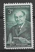 1956 3 Cents Wiley Chemist Mint Never Hinged - Stati Uniti
