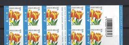 """Belgique: C54 ** Carnet De Timbres-poste Autocollants """" Tulipes"""" - Zonder Classificatie"""