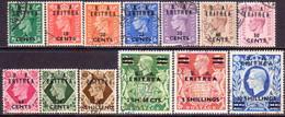 British Occupation Of ItalianColonies ERITREA 1950 SG #E13-E25 Compl.set Used CV £95 - Eritrea