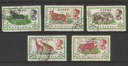 Ethiopia - 1962 Fauna Short Set Used - Ethiopia