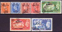 British Occupation Of ItalianColonies ERITREA 1951 SG #E26-E32 Compl.set Used CV £100 - Eritrea