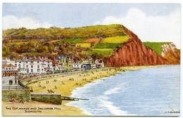 ARTIST : A. R. QUINTON - SIDMOUTH, THE ESPLANADE AND SALCOMBE HILL - Quinton, AR