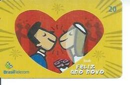 BRASIL TELECOM 20 -  FELIZ ANO NOVO  - BRESIL 12/2002 - Brésil