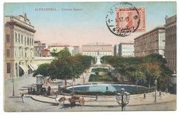CPA ALEXANDRIE EGYPTE 1917 / PLACE DES CONSULS / CENSURE CONTROLE POSTAL EN TUNISIE - Alexandria