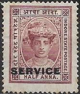HOLKAR (INDORE) 1904 Official - Maharaja Tukoji Holkar III - 1/2 A - Red MH - Holkar