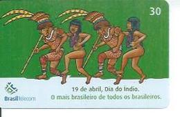 BRASIL TELECOM 30 - 19 DE ABRIL, DIA DO INDIO   - BRESIL 04/2002 - Brésil