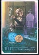 POLOGNE / Neufs **/MNH**/ 2011 - Centenaire Du 2eme Prix Nobel De Chimie De Marie Curie - Blocks & Kleinbögen