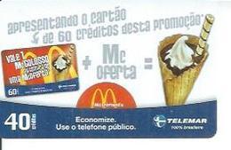 TELEMAR 40 - McDONALD'S   - BRESIL 03/2003 - Brésil