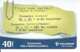 TELEMAR 40 - SICOU SEM CARTAOS   - BRESIL 03/2003 - Brésil