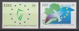 Ireland 1990 Presidency EU & European Year Of Tourism 2v ** Mnh (44116G) - Europese Gedachte